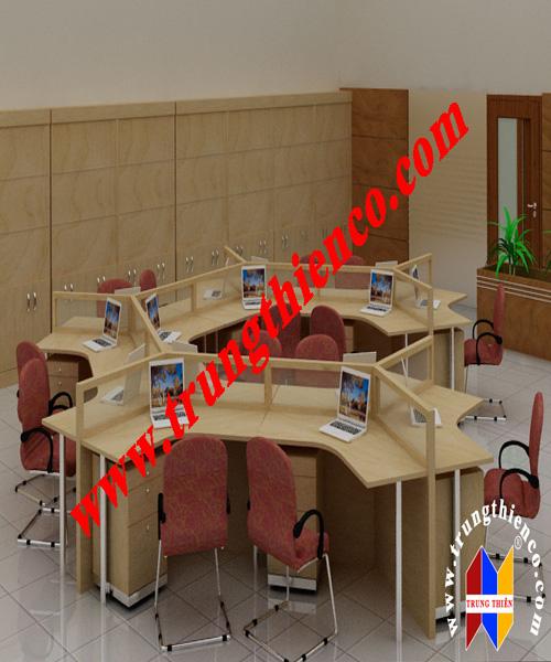 Vách ngăn văn phòng theo kiểu module phù hợp với không gian làm việc nhóm